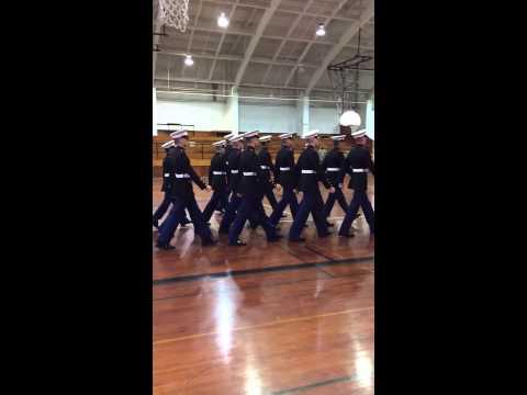 Little Rock Catholic High School for Boys MCJROTC Malvern Drill Meet Practice