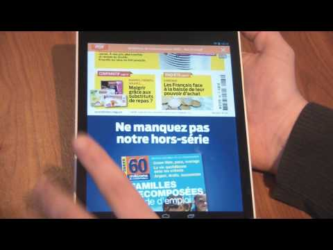 Test et avis Tablette Android HP Slate 8 pro - multimédia