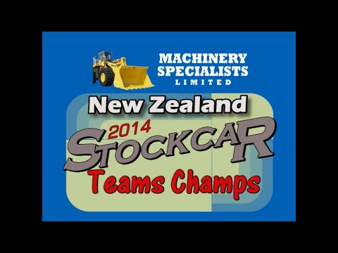 Finals night for the 2014 New Zealand Stockcar Teams Champs held at the Robertson Holden International Speedway in Palmerston North. - dirt track racing video image