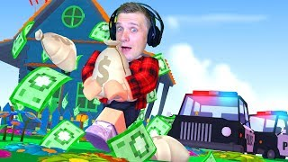 Robbery of the richest man in ROBLOX that HOUSE Dad plays on FFGTV for children