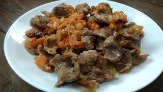 Готовим куриные желудки на сковороде!!! Рецепт мягких куриных желудков!!!