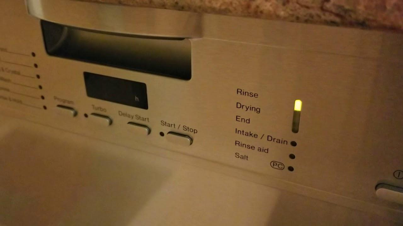 Miele Dishwasher F14 Fault Code vid #4