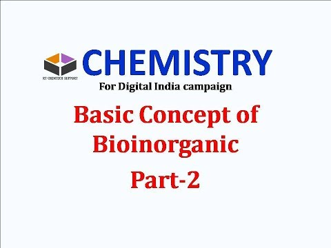 NET CSIR/Gate: BIOINORGANIC CHEMISTRYPart 2 (in hindi), For Digital India Campaign
