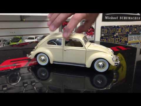 1955 Volkswagen Beetle diecast model 1/18 scale unboxing