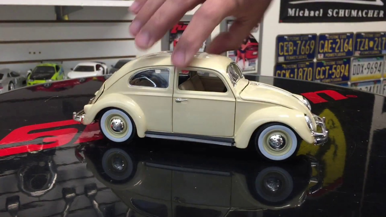 1955 volkswagen beetle diecast model 1 18 scale unboxing youtube. Black Bedroom Furniture Sets. Home Design Ideas