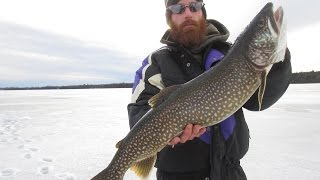 Ice Fishing For Giant Lake Trout | 6 lbs Test Line!!! | North …