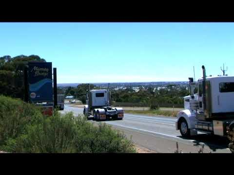 Truck Convoy Entering Murray Bridge