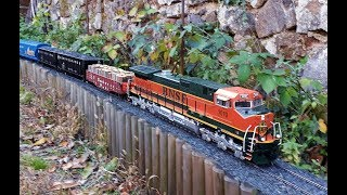 Saturday G-scale fever - garden model trains with superb sound!