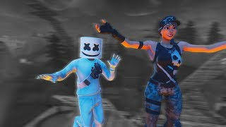 I MET Marshmello in his concert... (Fortnite)