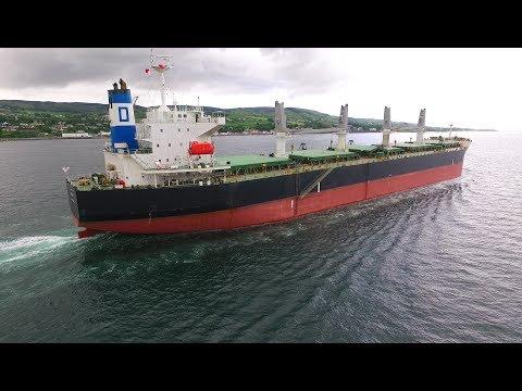 DJI Phantom 3 Advanced - ANASA Bulk Carrier, Rain Drops & Vlog