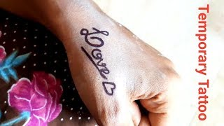 Temporary TATTOO 5 Minutes at HOME || Beauty D