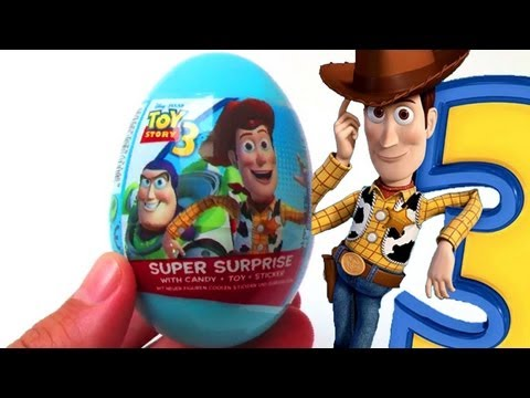 Toy story 3 surprise egg toys candies & stickers ...