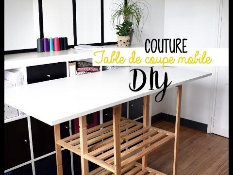 Diy Table De Coupe Textile Mobile Youtube