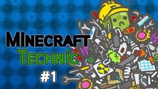 Burak Minecraft Technic'de Bölüm 1 - Aslansın Sen Kaplansın Sen