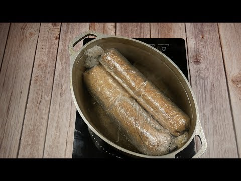 Самый простой Рецепт Домашней Колбасы из Печени!  Как приготовить Домашнюю Печеночную Колбасу