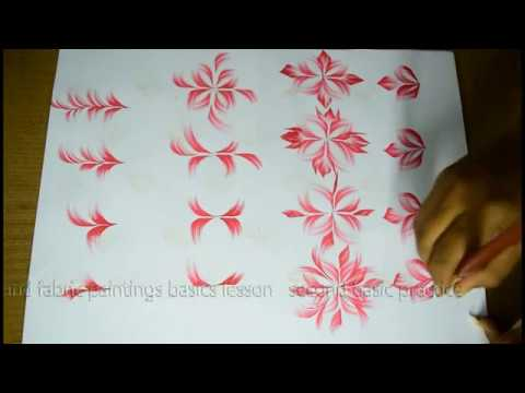 Free Hand Fabric Painting Leaves Brush Strokes 7 Telugu Paintingphotos4K Videos