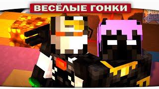 Чёрная Пантера VS. Боевая Машина - Весёлые гонки (Lucky Block)