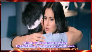 SAANS [ SAD & FEMALE VERSION ] - LYRICS AND ENG SUBS - JAB TAK HAI JAAN - FULL SONG - *HQ* & *HD*