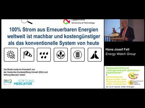 """Hans-Josef Fell, EWG - """"Erneuerbare Energien müssen auch in Deutschland wieder Fahrt aufnehmen."""""""