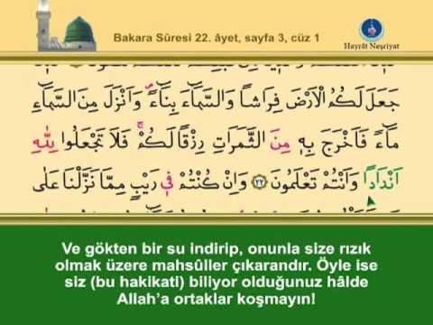 BİRİNCİ CÜZ KURANI KERİM SAYFA.  2. 3.  4