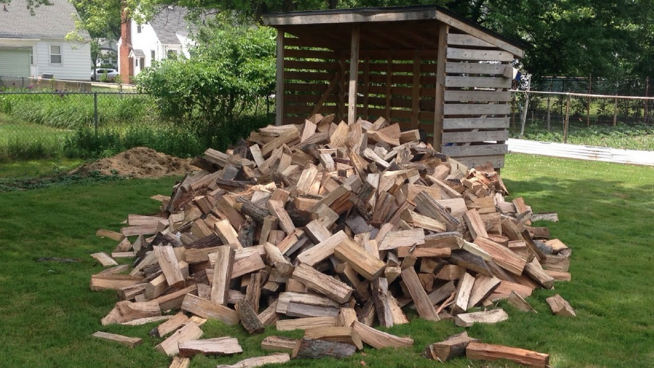Load a Firewood-Storage Shed - YouTube
