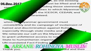 06 DECEMBER 2017 # English News Translation in Rohingya Language By Mr Ismail