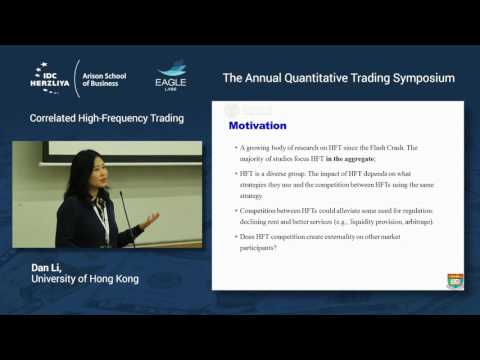 Correlated High-Frequency Trading
