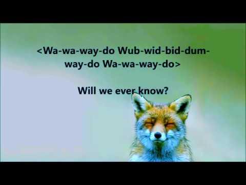 what does the fox say ylvis lyrics youtube