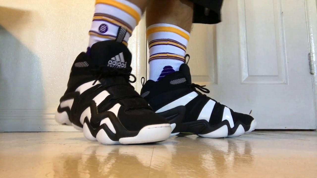 best service 30dc8 a7d0d Adidas Crazy 8 Blk white on feet ...