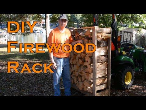 Firewood Rack DIY Firewood Storage Sub-Compact Tractor