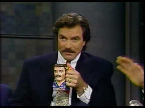 Tom Selleck on 'Late Night with David Letterman' 1993-06-18