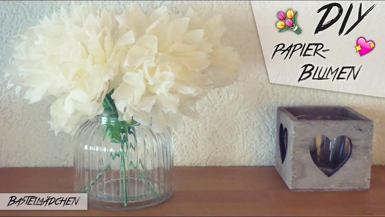 diy papierblumen aus servietten bastelm dchen youtube. Black Bedroom Furniture Sets. Home Design Ideas