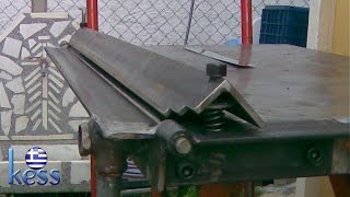 Repeat youtube video Sheet Metal Bender Brake The Make (DIY) & First Use Stainless Steel BBQ