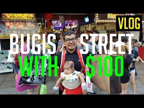Shopping in Bugis Street Singapore with $100 | SMALL CITY ISLAND