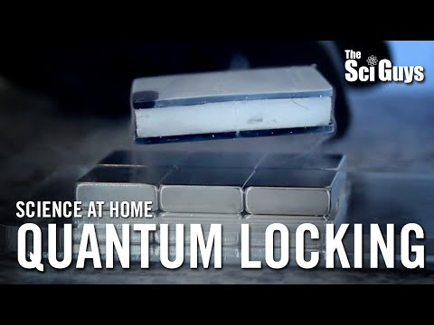 The Sci Guys: Science at Home - 10K Sub Bonus: Quantum Locking and Flux Pinning - Quantum Levitation