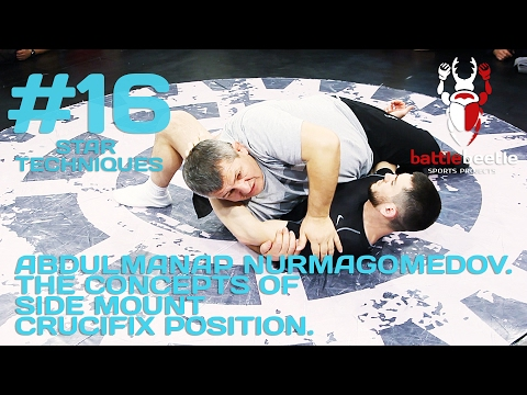 Abdulmanap Nurmagomedov teaching the details of side control to crucifix to smesh