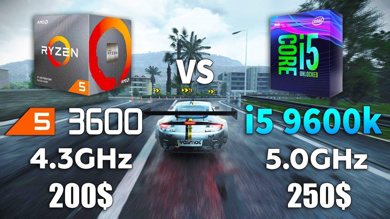 Ryzen 5 3600 OC vs i5 9600k OC Test in 9 Games