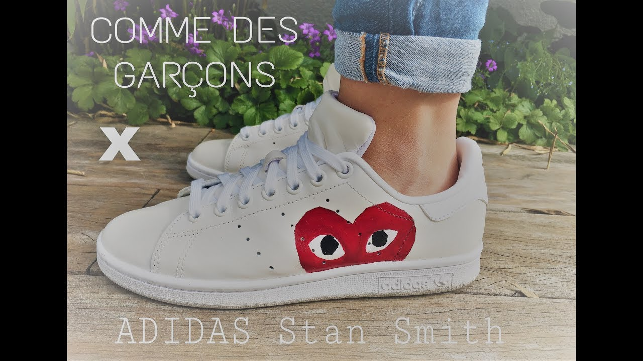 save off fc008 5059e Comme Des Garcons X ADIDAS Stan Smith Sneaker Custom