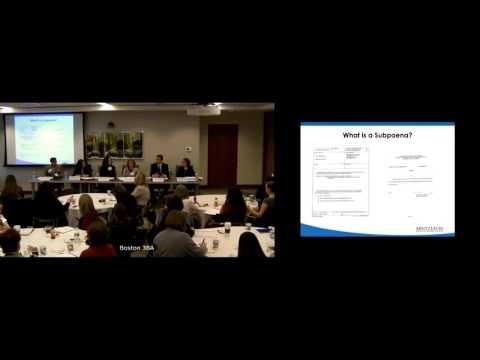 Understanding and Responding to Subpoenas
