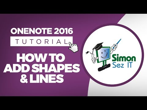 How to Add Shapes and Lines in OneNote 2016