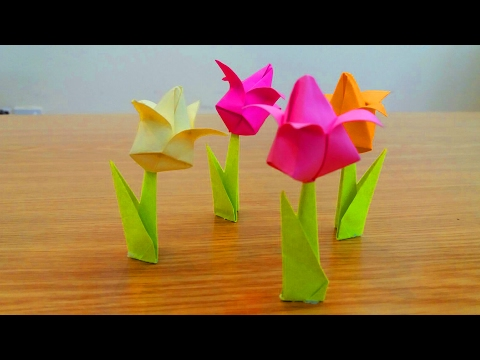 How To Make Paper Tulip Flowers Easy || Easy Diy Tulip Flowers || You Can Do This