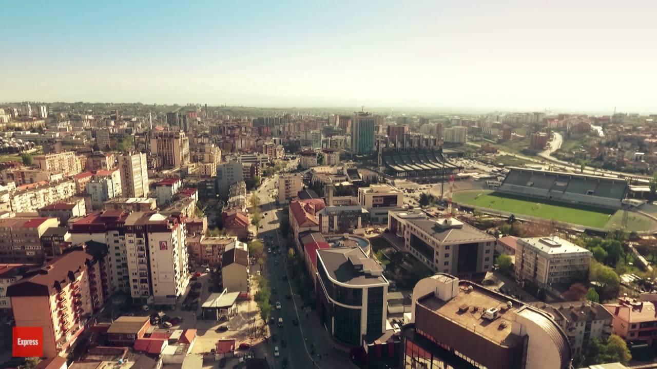 Pamje fantastike te Prishtines nga droni