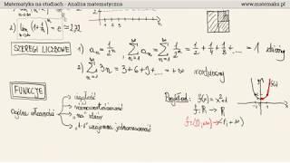 Studia - Analiza matematyczna - przekrojowe omówienie przedmiotu