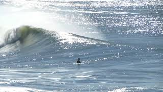 Big waves vs surfers  in Pacifica