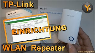 Einrichtung & Konfiguration: TP-Link TL-WA850RE / WLAN WiFi Repeater / 802.11n / 300Mbit