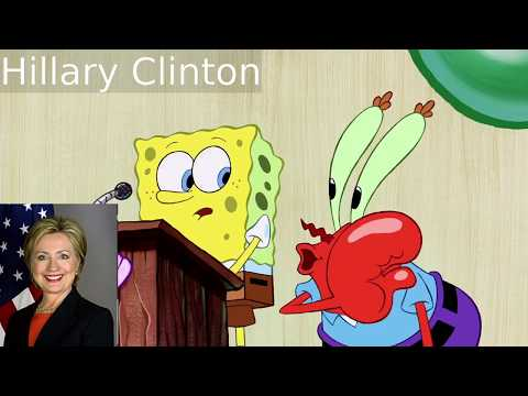 Presidents of the USA and other Americans portrayed by SpongeBob