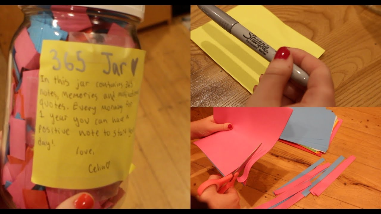 Diy 365 Day Jar Easy Pinterest Birthday Gift Youtube