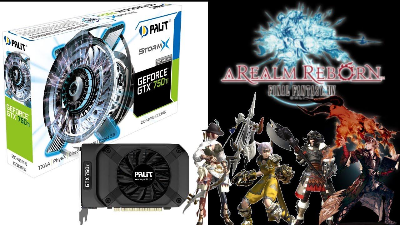Palit GeForce GTX750TI StormX (OC) FF14 ベンチマーク【最高品質+標準品質】 - YouTube