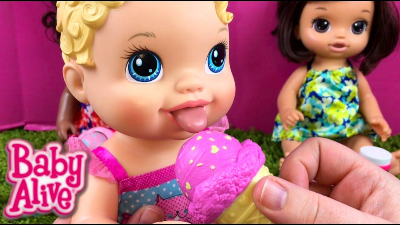 Ice Cream Cone Baby Alive Dolls Youtube