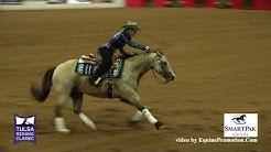 Slideomatic Spook ridden by Gina Maria Schumacher  - 2018 Tulsa Reining Classic (NP Derby)